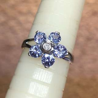 14kt tanzanite diamond ring