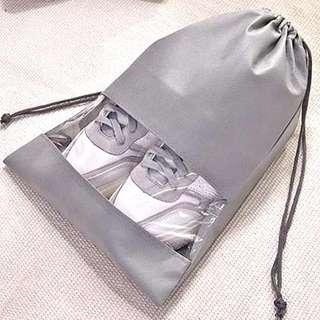 ($35/3個) 全新簡約鞋袋 旅行收納袋 束口袋 透明防塵袋
