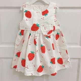外貿款印花純棉洋裝