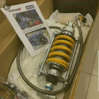 Tmax 530(15-16)Ohlins AG1206 (race version)and Front cartridge for sale