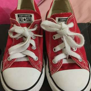 Authentic Converse red toddler