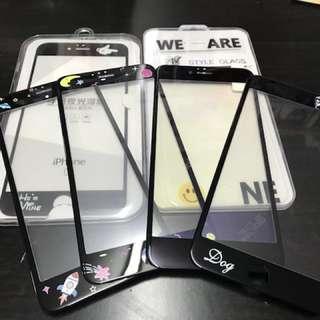 iphone 6s 公仔玻璃貼連背膜 (6張)