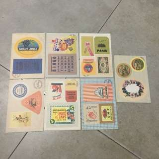 Vintage Style Stickers (14)