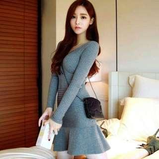 Knit Dress black only