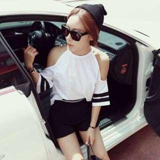 korean fashion stripes top
