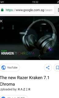 Razer kraken chroma headphone
