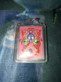 Butterfly with nine tail fox amulet