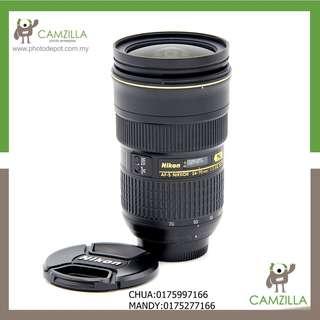 (USED)NIKON LENS AF-S 24-70mm 1:2.8 G ED (Come With Lens Hood)