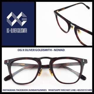 OG x Oliver Goldsmith Nomad spectacles 日本手做眼鏡