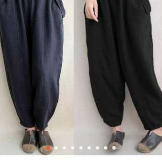 Cotton linen baggy pants