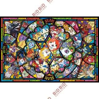 妖怪手錶 地縛貓 地縛喵 透光 Jigsaw Puzzle 砌圖 拼圖 1000pcs 日本製 透明 仿彩色玻璃風格 YO KAI WATCH 人物 大集合 All Star