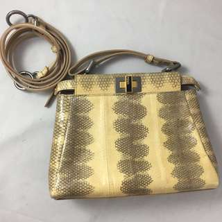 Fendi mini peekaboo exotic snakeskin
