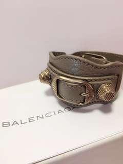 Balenciaga Leather Bracelet in Grey 巴黎世家真皮手帶
