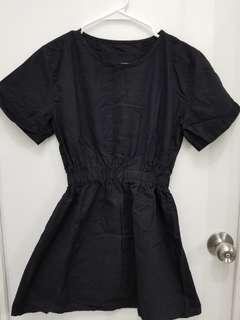 Mini Black Dress with Sleeves