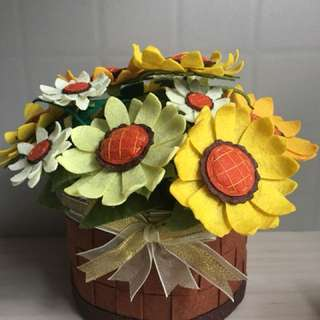 Sunflowers in a pot