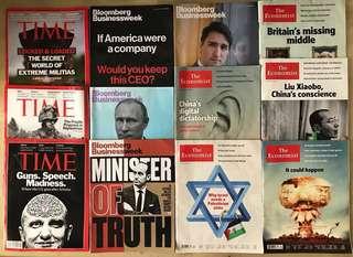 The Economist, Bloomberg Businessweek, Time Magazines - A level GP/Economics