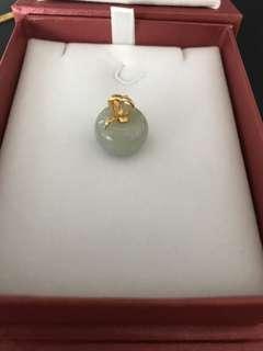916 Gold Jade Pendant
