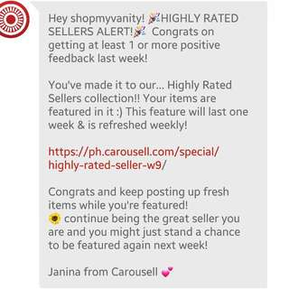 HIGHLY RATED SELLER FOR THE 3RD TIME!! THANK YOU SO MUCH!! 🌻🌞