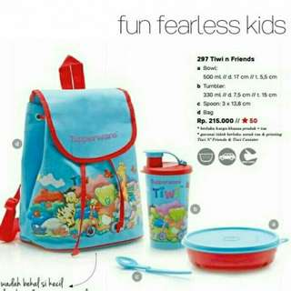 Tupperware Lunch Box set Tiwi n Friends