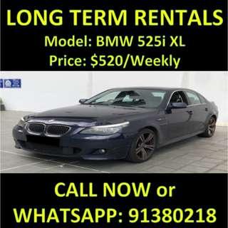 BMW 525i XL Long Term Car Rental