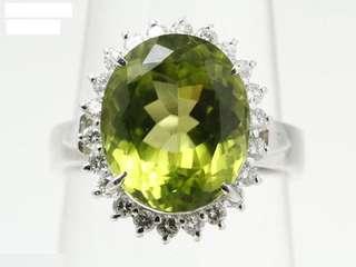 🎉🎉🎉稀少✨橄榄石铂金戒指