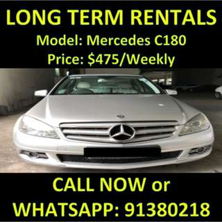 Mercedes C180 Long Term Car Rental