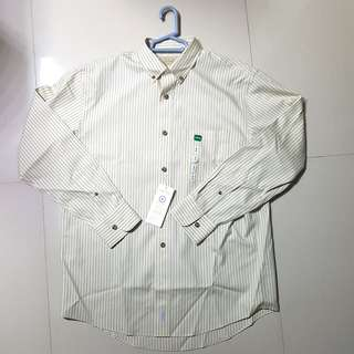 CABELA'S Pinpoint Long Sleeve Oxford Pattern Shirt Rivermoss
