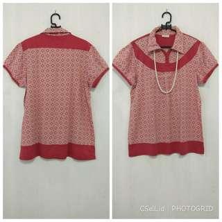 Blouse Red Batik