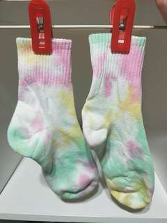 BRAND NEW!! FROM JAPAN!! RARE PASTEL UNICORN TIE DYE MID-ANKLE SOCKS!! ONLY 1 PAIR!!