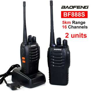 Baofeng BF-888s UHF Transceiver Two-Way Radio Set of 2