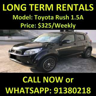 Toyota Rush 1.5A Long Term Car Rental