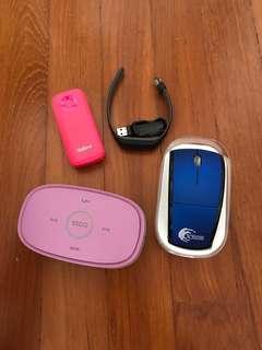 Speaker, Powerbank, Bluetooth Mouse