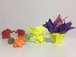 Handmade origami