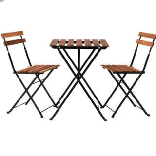 Brand new Ikea outdoor wooden table and chair set