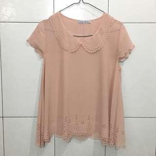 Blus Pink Chic Simple