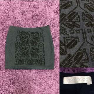 PROMOD Aztec Embroided Skirt