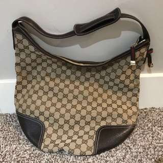 Almost 100% new Gucci GG Canvas Shoulder Bag