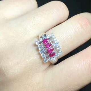 🎍Natural Pink Ruby Oval Gem Ring🎍