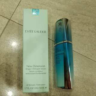 Estee Lauder New Dimension Shape + Fill Expert Serum.