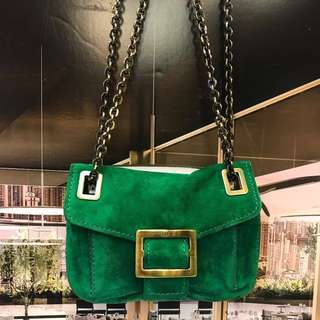 新春優惠貨品Roger Vivier Seude Leather Handbag