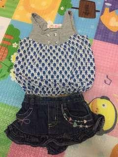 Set top & skirt baby