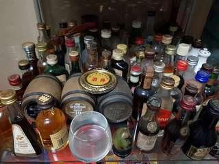 Small little alcohol bottles
