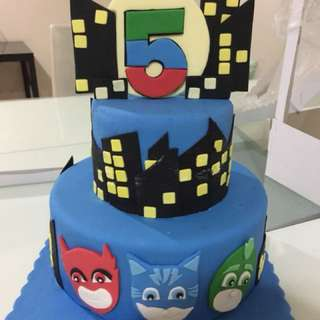 pj mask birthday cake