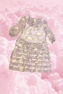 Vintage lolita long floral dress