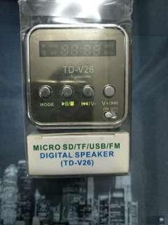 Micro SD FM digital speaker