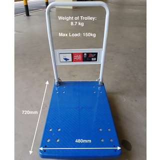Heavy Duty Foldable Plastic Platform Trolley - Max weight load: 150KG~NEW~