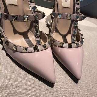 Valentino鉚釘高跟鞋6.5/10cm5色三環兩環