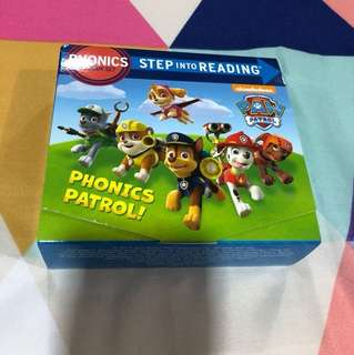 Like new Paw Petrol Phonics Step into Reading 12 books set