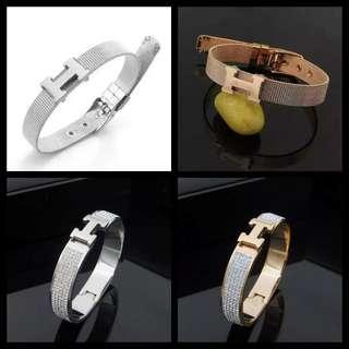 H diamond bangle clic clac braceler unisex
