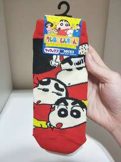 BRAND NEW!! FROM JAPAN!! 100% AUTHETNIC CRAYON SHIN CHAN SOCKS!!  SUPER CUTE WITH 4 BIG SHIN CHAN HEAD!!  ONLY1!! HURRY WHILE STOCK LAST!!!